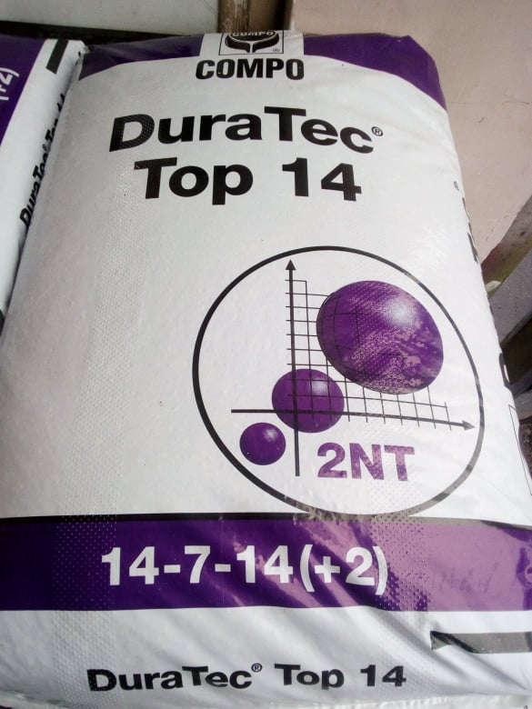 Удобрение DuraTec Top 14, NPK 14-7-14 + ME, 25кг